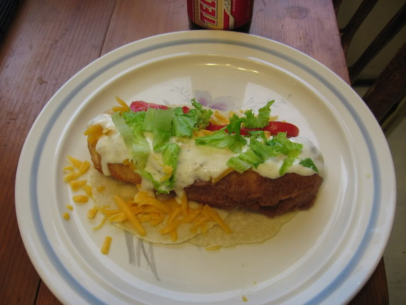 Beer battered halibut tacos
